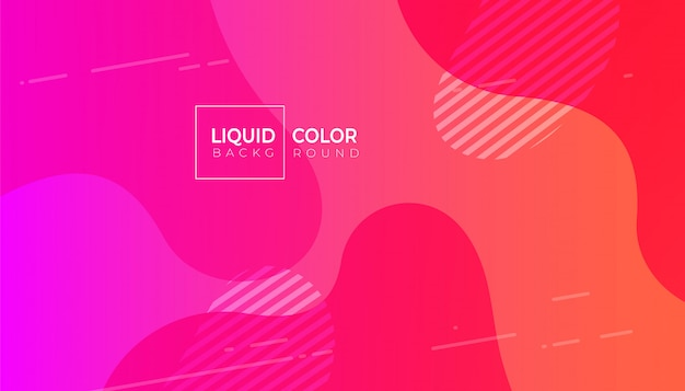 Il liquido plastico fluido minimale modella la priorità bassa Vettore Premium