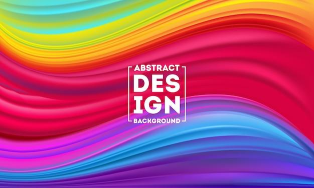 Il manifesto variopinto astratto di flusso progetta il modello, il vettore dinamico di flusso di colore, il fondo della maglia di colore, progettazione di arte per il vostro progetto di progettazione. illustrazione vettoriale eps10 Vettore Premium