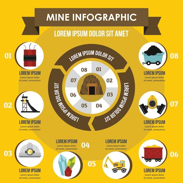 Il mio concetto infografica Vettore Premium