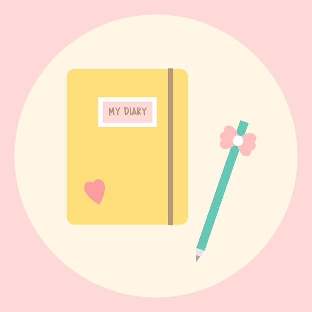 Il mio diario Vettore gratuito