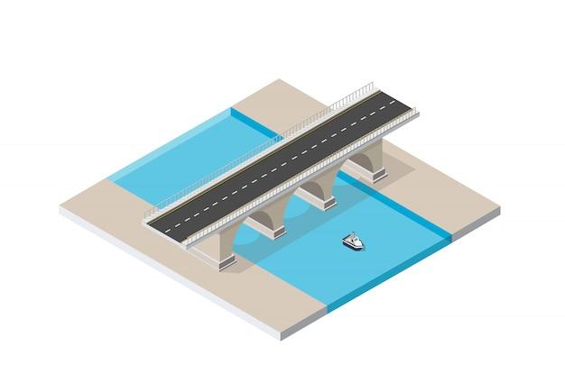 Il ponte skyway delle infrastrutture urbane è Vettore Premium