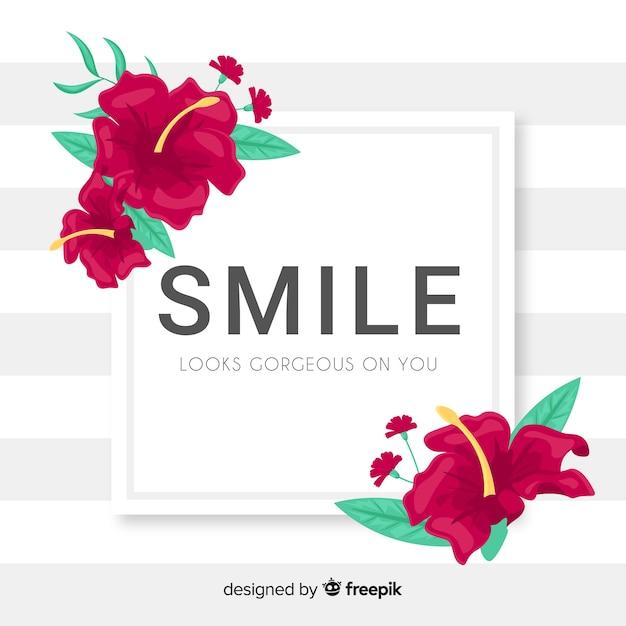 Il sorriso ti sembra magnifico. citazione di lettering Vettore gratuito