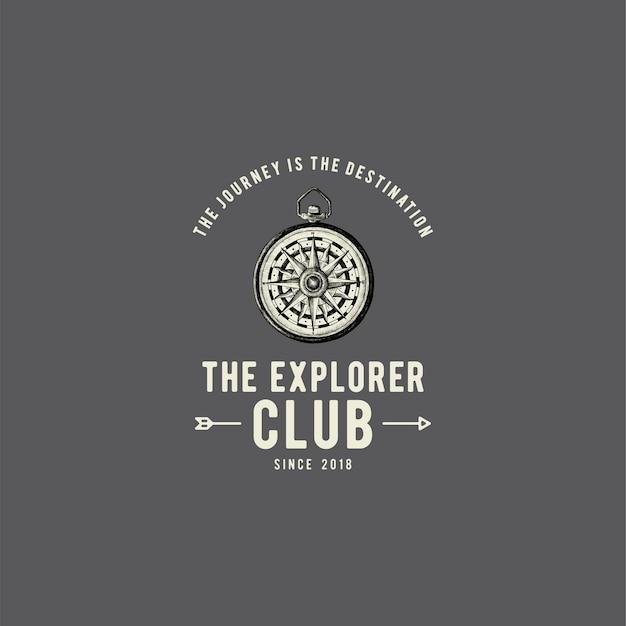 Il vettore di design logo club explorer Vettore gratuito
