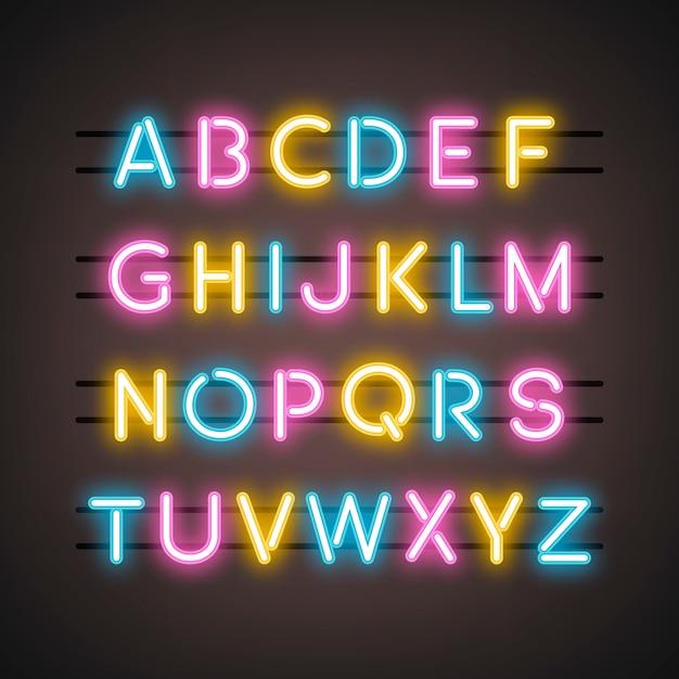Il vettore di lettere maiuscole dell'alfabeto inglese Vettore gratuito