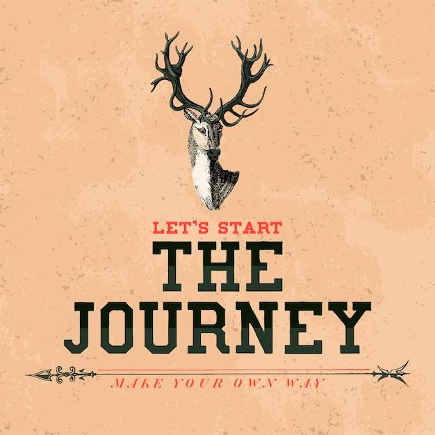Il viaggio logo design vettoriale Vettore gratuito