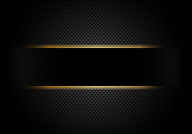 Illuminazione di fondo in fibra di carbonio con etichetta nera Vettore Premium