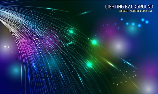 Illuminazione dinamica sfondo colorato Vettore Premium