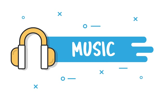 Illustation of music concpet Vettore gratuito