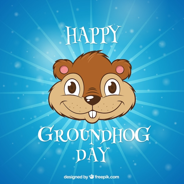 Illustrato day background marmotta Vettore gratuito