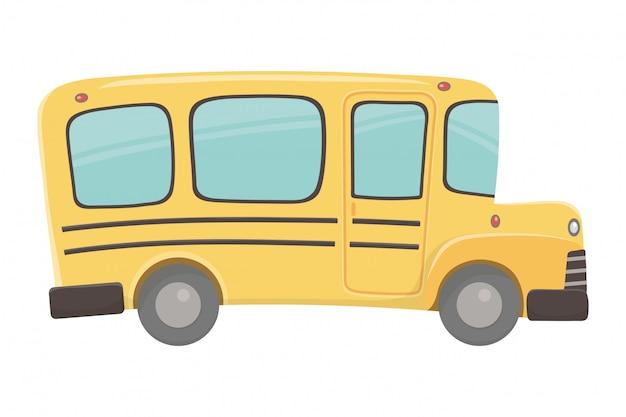 Illustratore di vettore di progettazione dello scuolabus Vettore Premium