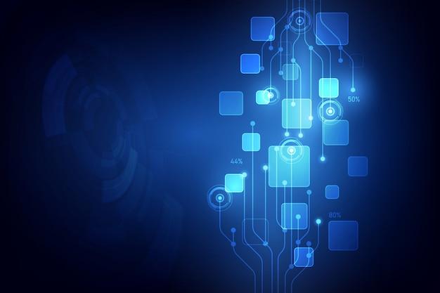 Illustrazione astratta della priorità bassa di tecnologia digitale di vettore Vettore Premium