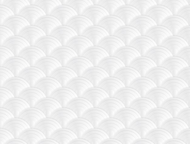 Illustrazione bianca di vettore di arte di carta di stile giapponese del fondo di struttura Vettore Premium