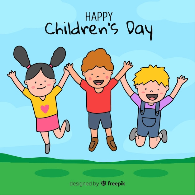 Illustrazione con desiderio felice di giorno dei bambini Vettore gratuito