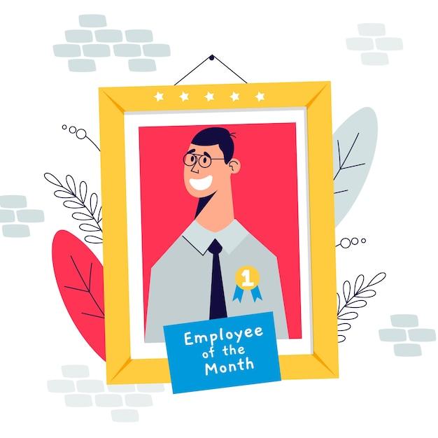 Illustrazione con l'impiegato della progettazione di mese Vettore gratuito