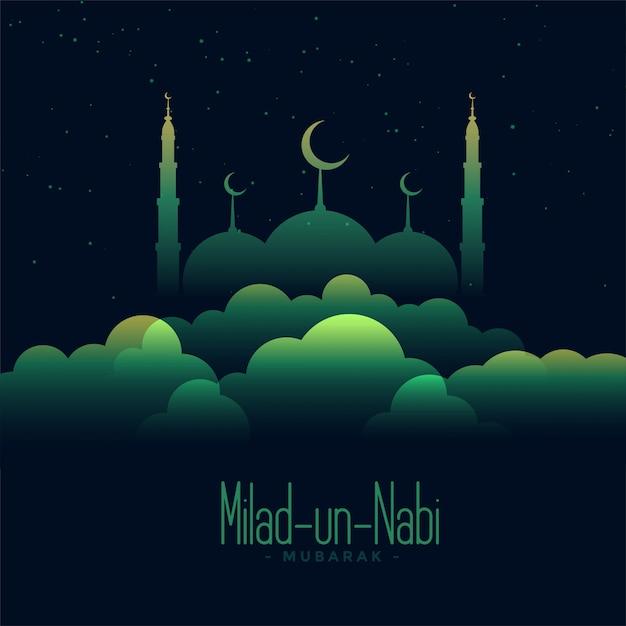 Illustrazione creativa di eid milad un nabi festival Vettore gratuito