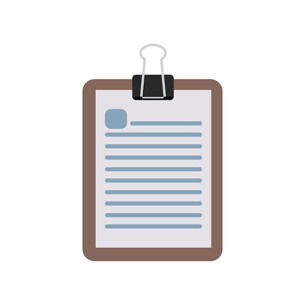 Illustrazione del blocco note Vettore gratuito