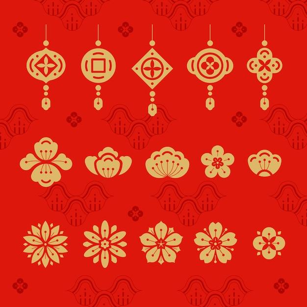 Illustrazione del capodanno cinese Vettore gratuito