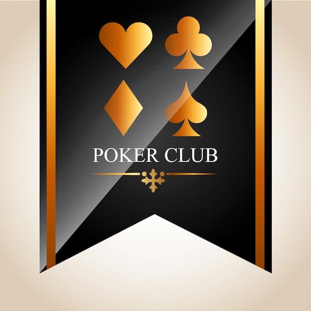 Illustrazione del club di poker Vettore gratuito