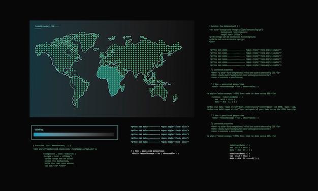 Illustrazione del codice di hacking del computer Vettore gratuito