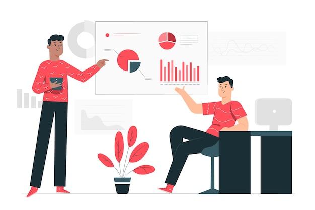 Illustrazione del concetto di analisi Vettore gratuito