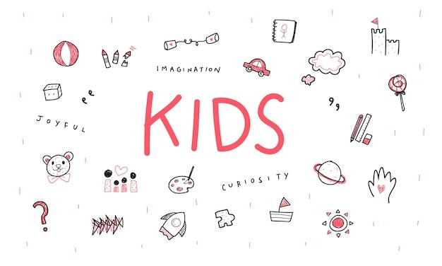 Illustrazione del concetto di bambini Vettore gratuito