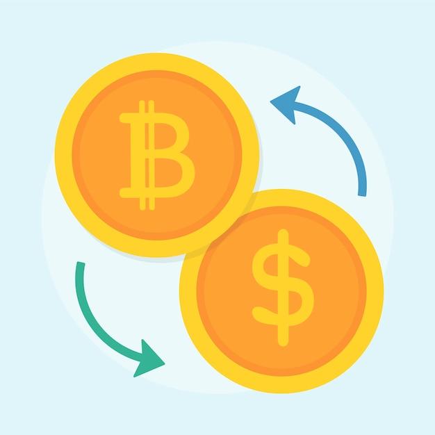 Illustrazione del concetto di bitcoin Vettore gratuito
