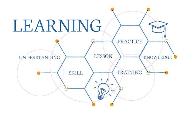 Illustrazione del concetto di educazione Vettore gratuito
