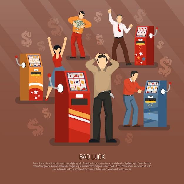 Illustrazione del concetto di fortuna Vettore gratuito