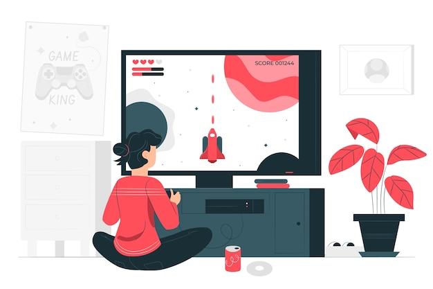 Illustrazione del concetto di gioco Vettore gratuito