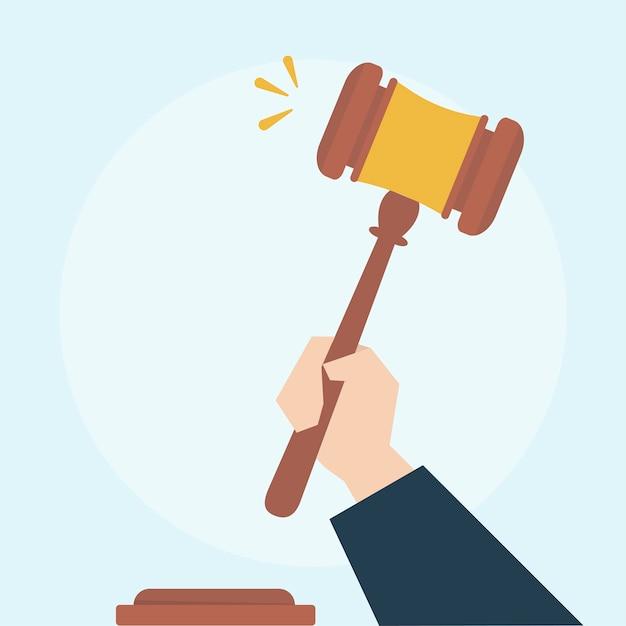 Illustrazione del concetto di legge Vettore gratuito