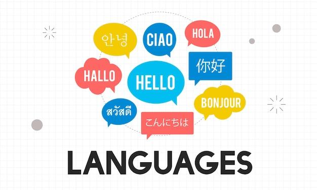 Illustrazione del concetto di lingua Vettore gratuito