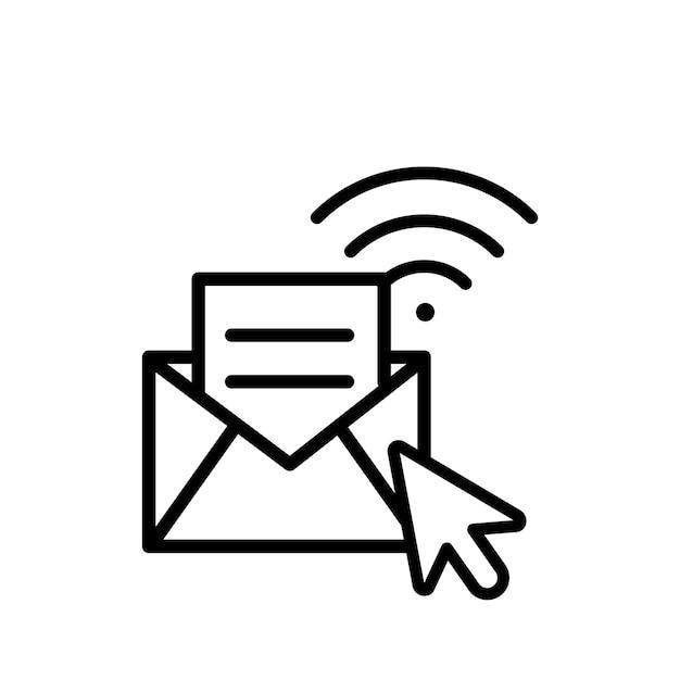 Illustrazione del concetto di messaggio Vettore gratuito
