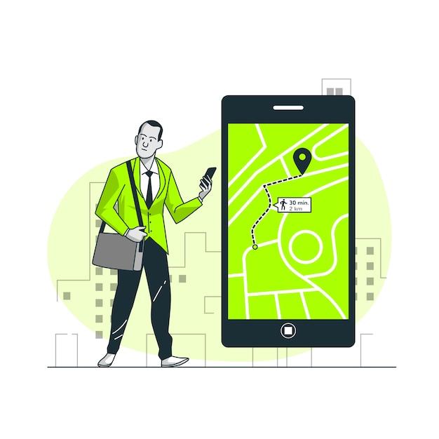 Illustrazione del concetto di navigazione Vettore gratuito