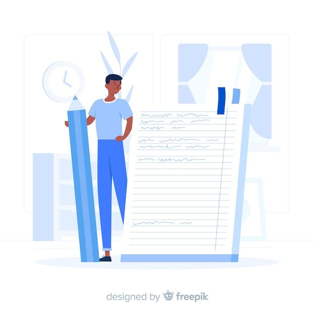 Illustrazione del concetto di notebook Vettore gratuito