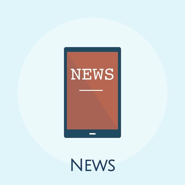 Illustrazione del concetto di notizie online Vettore gratuito