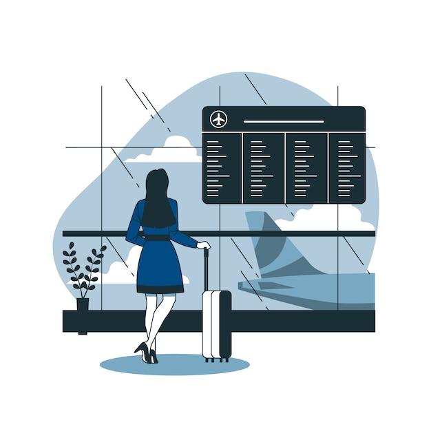Illustrazione del concetto di partenza Vettore gratuito