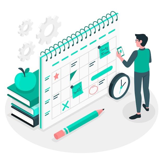 Illustrazione del concetto di programma Vettore gratuito