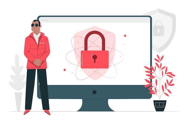 Illustrazione del concetto di sicurezza Vettore gratuito