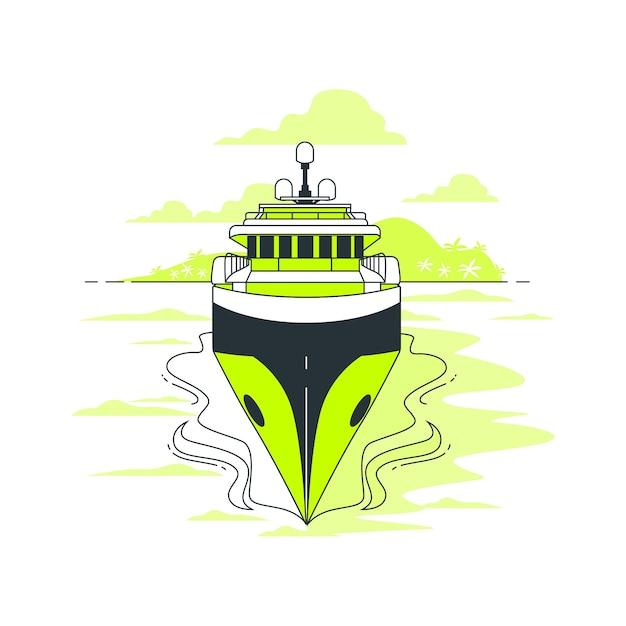 Illustrazione del concetto di vela Vettore gratuito