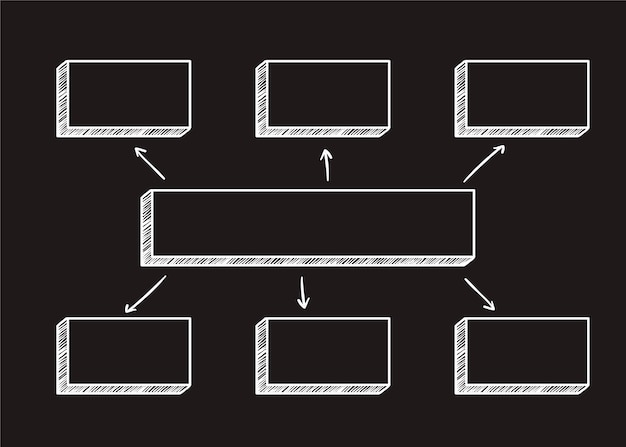 Illustrazione del diagramma quadrato Vettore gratuito