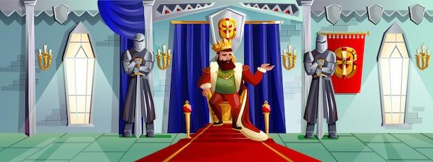 Illustrazione del fumetto della stanza del castello Vettore gratuito