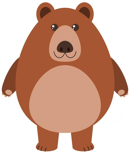 Illustrazione del fumetto di orso grizzly Vettore gratuito