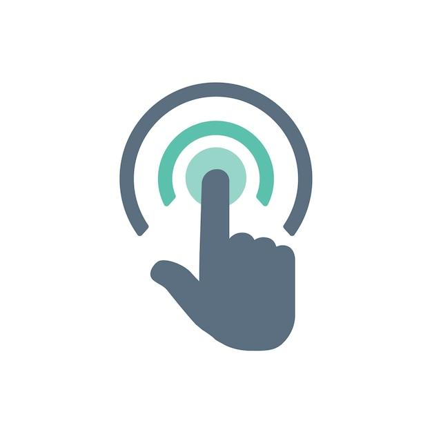 Illustrazione del gesto della mano touch screen Vettore gratuito