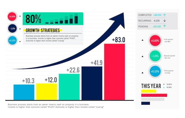 Illustrazione del grafico di analisi dei dati Vettore gratuito