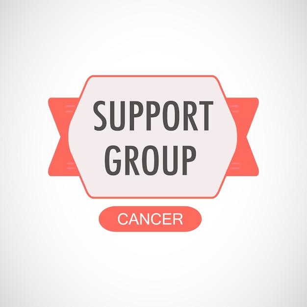 Illustrazione del gruppo di supporto per il cancro Vettore gratuito