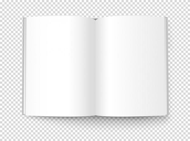 Illustrazione del libro bianco Vettore Premium