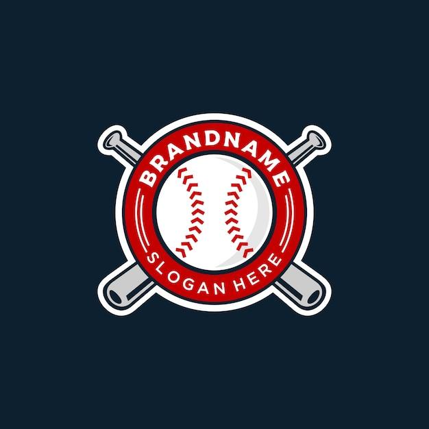 Illustrazione del logo di baseball Vettore Premium