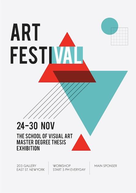 Illustrazione del manifesto della mostra d'arte Vettore gratuito