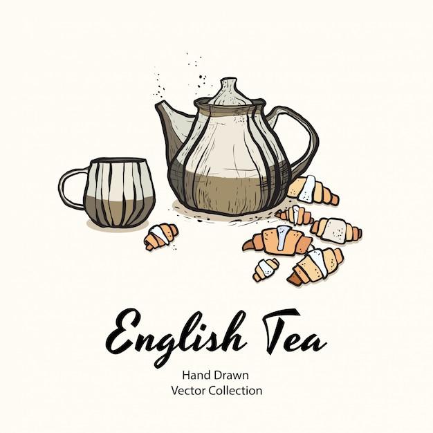 Illustrazione del partito del tè Vettore Premium