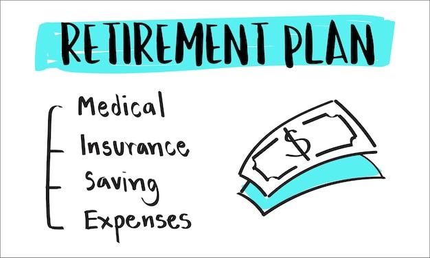 Illustrazione del piano pensionistico Vettore gratuito